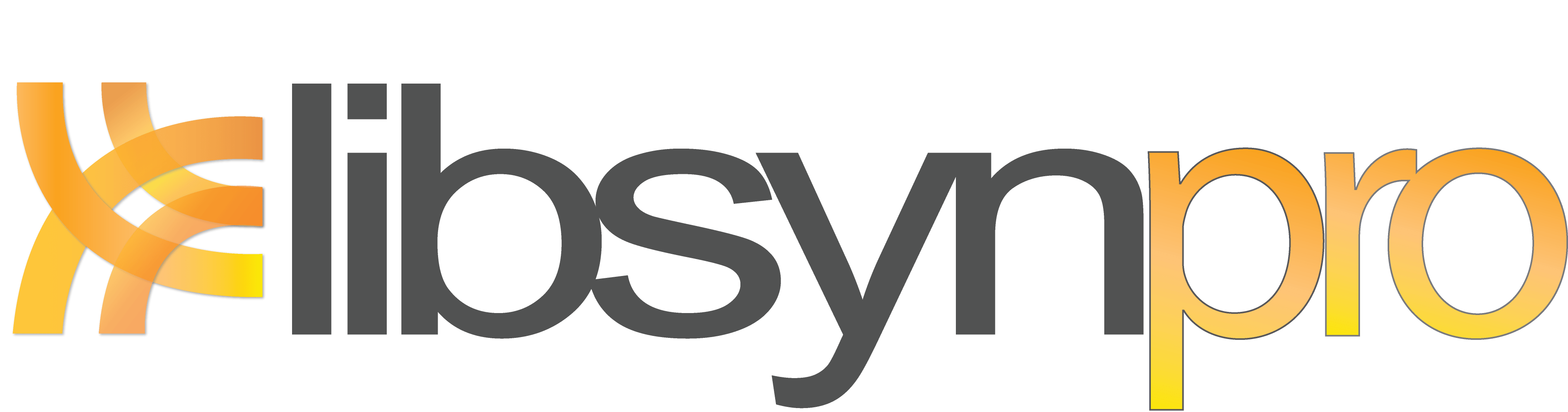 Logo for LibsynPro, solution for professional podcasting