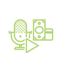 Podcast monetization icon